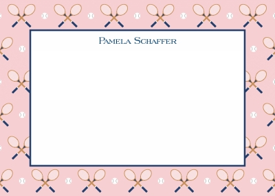 Racquet Repeat Stationery Personalized by Boatman Geller