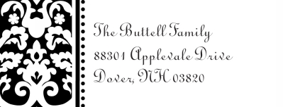 Madison Black Address Label Personalized by Boatman Geller