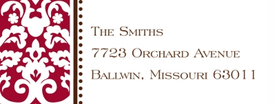 Madison Red Address Label Personalized by Boatman Geller