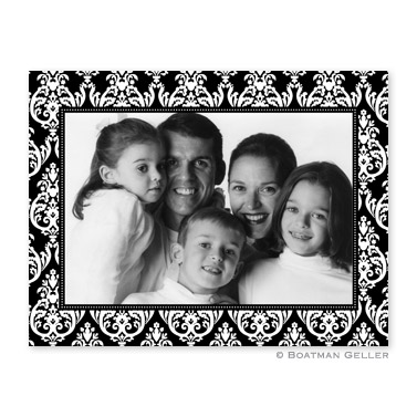 Madison Black Folded Digital Photo Card Personalized by Boatman Geller