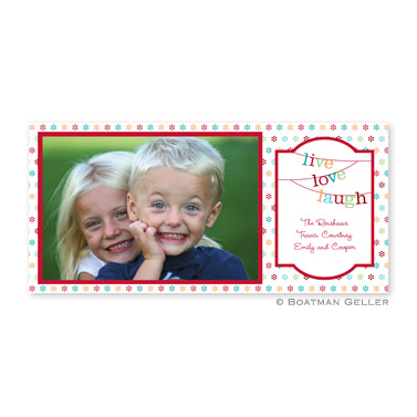 Banner Live Love Laugh Long Flat Digital Photo Card Personalized by Boatman Geller