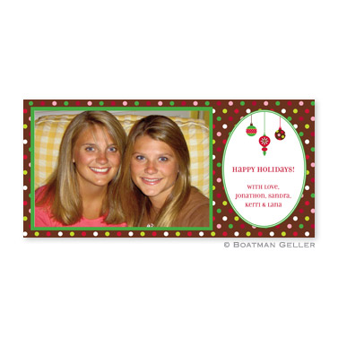 Ornaments Long Flat Digital Photo Card Personalized by Boatman Geller