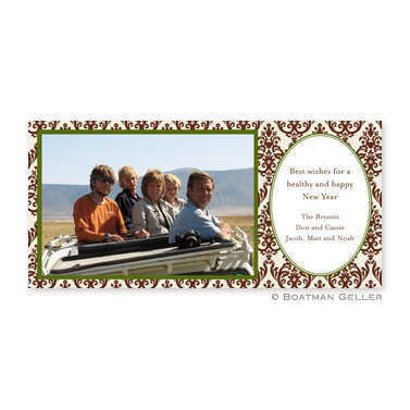 Madison Brown Long Flat Digital Photo Card Personalized by Boatman Geller