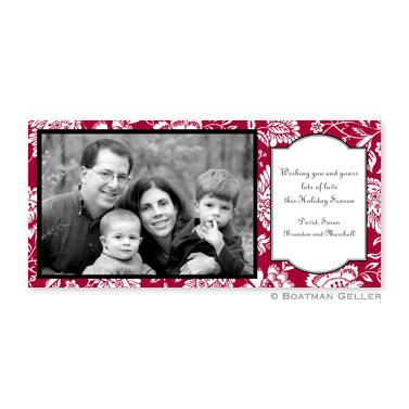 Savannah Red Long Flat Digital Photo Card Personalized by Boatman Geller