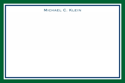 Border Hunter and Navy Stationery Personalized by Boatman Geller