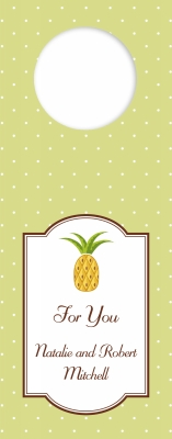 Pineapple Wine Tag Personalized by Boatman Geller