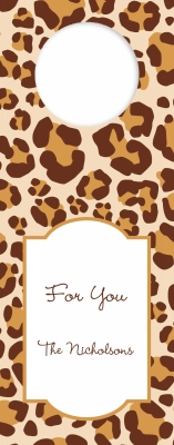 Leopard Brown Wine Tag Personalized by Boatman Geller
