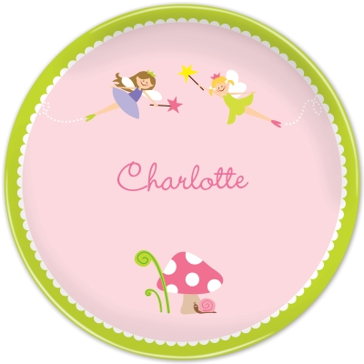 Fairy Personalized Plates Personalized by Boatman Geller