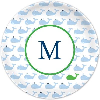 Whale Repeat Personalized Plates Personalized by Boatman Geller