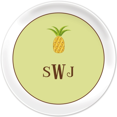 Pineapple Personalized Plates Personalized by Boatman Geller