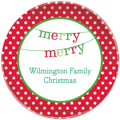 Banner Merry Merry Personalized Plates Personalized by Boatman Geller