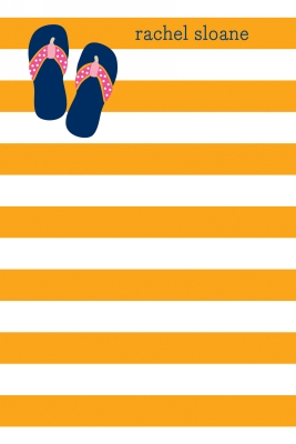 Stripe Flip Flops Personalized Notepad