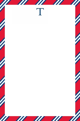 Repp Tie Red & Navy Personalized Notepad