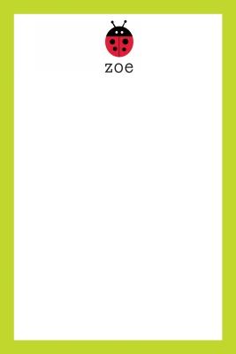 Lady bug Personalized Notepad