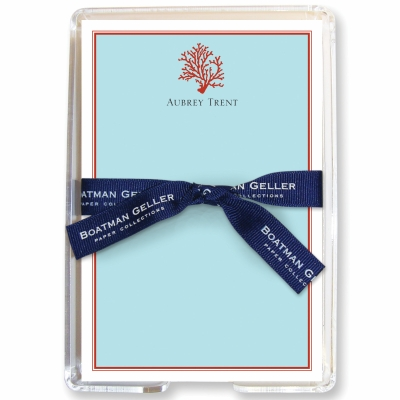 Coral Stationery Personalized by Boatman Geller