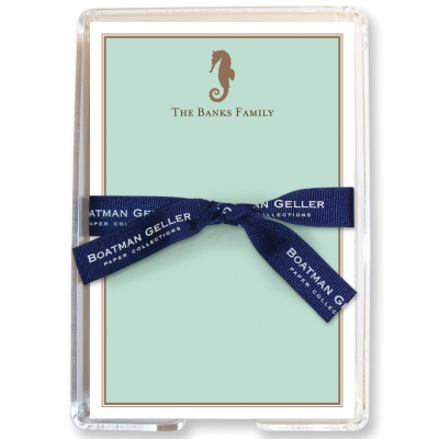 Seahorse Stationery Personalized by Boatman Geller