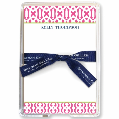 Cameron Raspberry Stationery Personalized by Boatman Geller