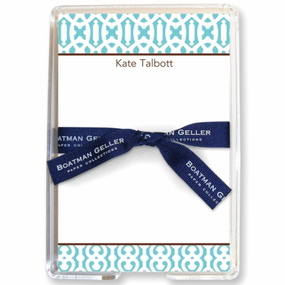 Cameron Teal Stationery Personalized by Boatman Geller