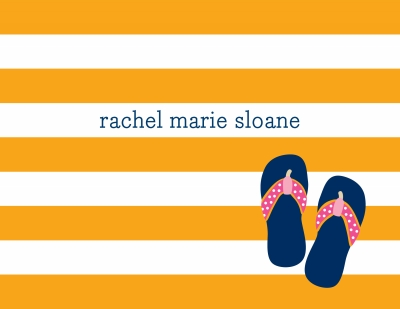 Stripe Flip Flops Stationery Personalized by Boatman Geller