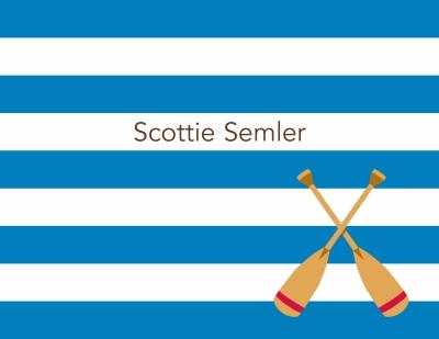 Stripe Oars Stationery Personalized by Boatman Geller