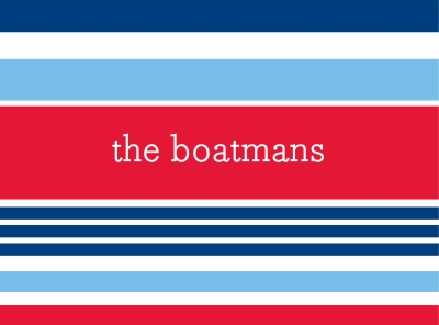 Espadrille Nautical Stationery Personalized by Boatman Geller