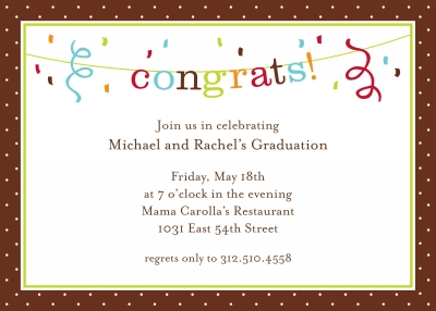 Banner Congrats Invitation Personalized by Boatman Geller