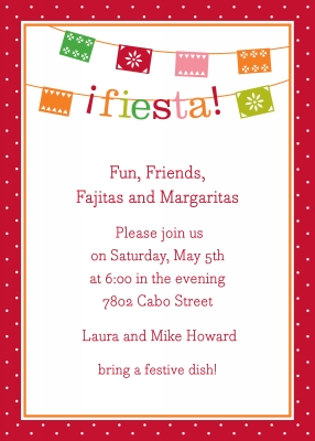 Banner Fiesta Invitation Personalized by Boatman Geller