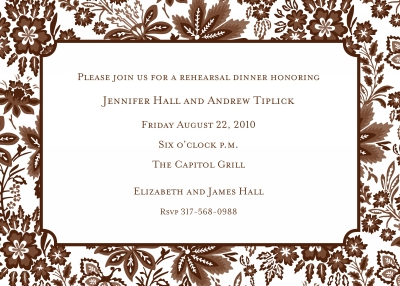Willow Floral Brown Invitation Personalized by Boatman Geller