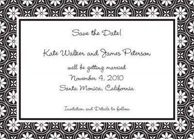 Medallion Border Black Stationery Personalized by Boatman Geller