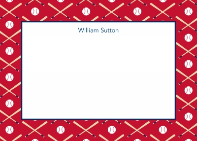 Baseball Repeat Stationery Personalized by Boatman Geller