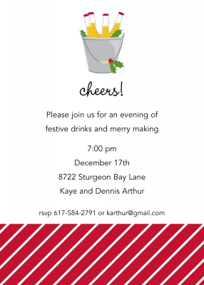 Cheer Beer Flat Holiday Invitation Personalized by Boatman Geller