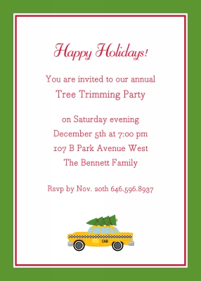 Holiday Taxi Flat Holiday Invitation Personalized by Boatman Geller