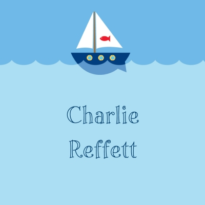 Sailboat Personalized Sticker Personalized by Boatman Geller