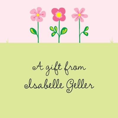 Garden Personalized Sticker Personalized by Boatman Geller