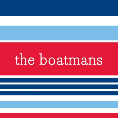 Espadrille Nautical Personalized Sticker Personalized by Boatman Geller