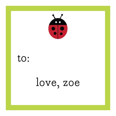 Lady bug Personalized Sticker Personalized by Boatman Geller