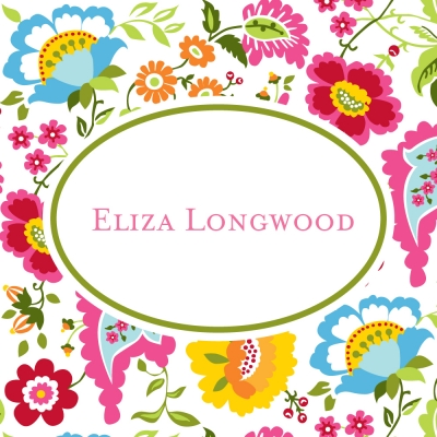 Floral Bright Personalized Sticker Personalized by Boatman Geller