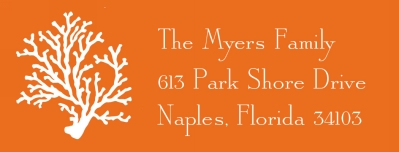 Coral Address Label Personalized by Boatman Geller
