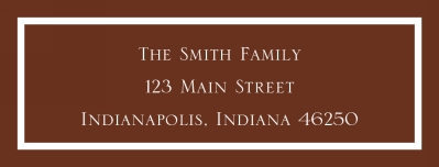 Classic Chocolate Address Label Personalized by Boatman Geller