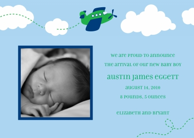 Airplane Announcement Personalized by Boatman Geller