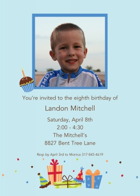 Birthday Sky Invitation Personalized by Boatman Geller
