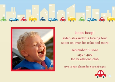 Cars Invitation Personalized by Boatman Geller