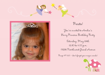 Fairies Invitation Personalized by Boatman Geller