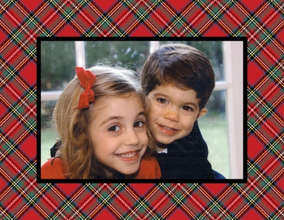 Plaid Red Foldover Digital Photo Card Personalized by Boatman Geller