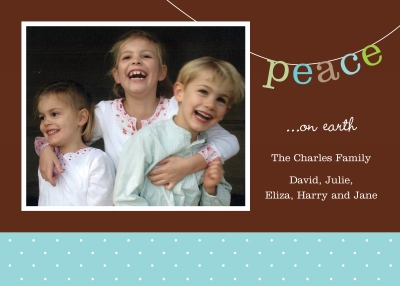 Peace Sway Flat Digital Photo Card Personalized by Boatman Geller