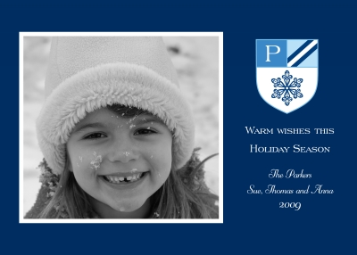 Crest Snow Flat Digital Photo Card Personalized by Boatman Geller