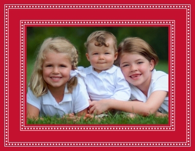 Beaded Red Foldover Digital Photo Card Personalized by Boatman Geller