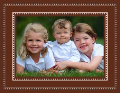 Beaded Brown Foldover Digital Photo Card Personalized by Boatman Geller