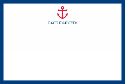 Anchor Stationery Personalized by Boatman Geller