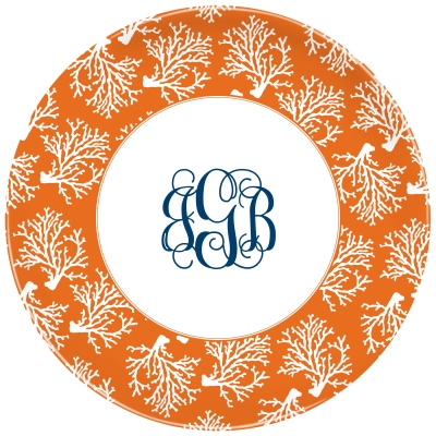Coral Repeat Personalized Plate Personalized by Boatman Geller